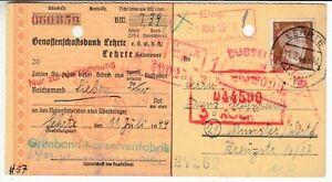 Deutsches Reich  Verrechnungsscheck  Genossenschaftsbank Lehrte  1944 #1