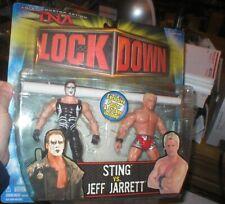 TNA LOCKDOWN JEFF JARRETT VERSUS STING, NEVER OPENED. FROM MARVEL TOYS