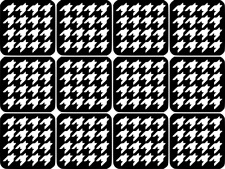 Houndstooth Nail Art Vinyl Stencil Guide Sticker Manicure Hollow Template