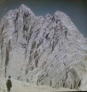 Dachstein Südwand r.d. Warte, Mountain in Austria, Magic Lantern Glass Slide