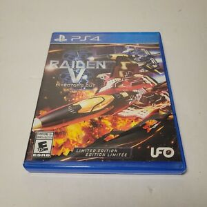Raiden V: Director's Cut  Limited Edition (Sony PlayStation 4, 2017) PS4 TESTED!