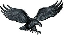 Whitehall Products Black Wall Eagle Cast Aluminum Indoor/Outdoor Decor 36 in.
