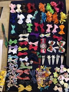 Lot of 125 Pieces Hair Bows Girls Baby Small Curly Barrette Holiday Beautiful