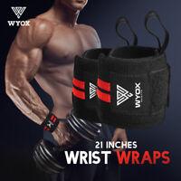 Weight Lifting Wrist Wraps Support Brace Elastic Strap Band Sports Gym WYOX 2pcs