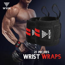 Weight Lifting Wrist Wraps Support Brace Elastic Cotton Strap Bands Sports Gym