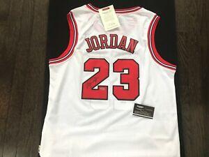 MICHAEL JORDAN SIGNED AUTOGRAPH NBA CHICAGO BULLS JERSEY GUARANTEED & COA