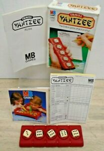 Vintage 1983 MB Games Original Travel Yahtzee 5 Dice Game Complete