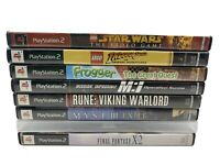 Playstation 2 PS2 8 Game Sci-Fi  Lot Final Fantasy Lego Rune Myst III MI Frogger