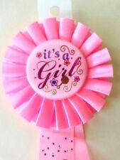 It's A Girl Rosette Pin Baby Shower Keepsake Scrapbook Diaper Cake MOM TO BE BP