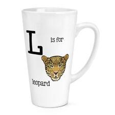 LETTERA L IS PER LEOPARDO 483ml GRANDE latte tazza - divertente animale gatto