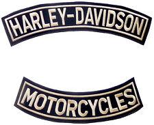 Conjunto de 2 parches grandes Harley Davidson-motocicletas Harley Davidson - - Chenille
