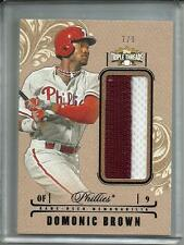 Domonic Brown 2014 Topps Triple Threads Game Used Jersey #7/9
