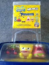 Mashems sponge bob squarepants Series 1 *EMPTY DISPLAY plastic case,3 figurines