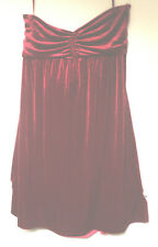 XXL NWOT Red Velvet Sweetheart Neckline STRAPLESS DRESS New Evening Stretch