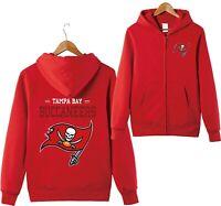 Tampa Bay Buccaneers Sports Hoodies Zip-up Sweatshirt Hooded Coat Jacket Gifts