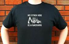 MY OTHER RIDE IS A BACKHOE CONSTRUCTION DIRT DIGGING GRAPHIC T-SHIRT TEE FUNNY