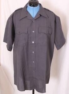 NEW Flying Cross SS Short Sleeve Police Uniform Gray Button Down Shirt Men's XL