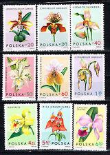 Poland Flora Flowers Orchids stamps set 1965 MNH