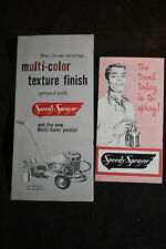 Two 1950s Speedy Sprayer Brochures Brown Corp. Chicago, Ill *Car Painting*