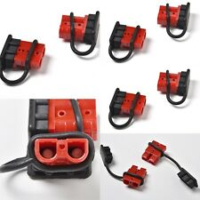 10-PACK RED CHARGER QUICK CONNECT PLUGS #6-8 AWG SMALL 50A AMP ANDERSON TYPE