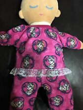 """Dolls clothes made to fit Lulla Doll  - Pyjamas. """"Frozen Elsa - Anna"""" Fabric"""