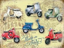 Vespa, Scooter, Calssic Italian Vespa Collection, Medium Metal/Tin Sign, Picture