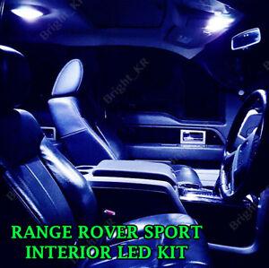 FOR RANGE ROVER SPORT L320 2005-2013 BLUE FULL LED LIGHT BULBS INTERIOR KIT
