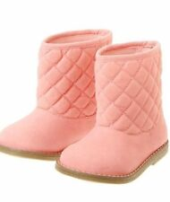Nwt Gymboree Polar Pink Quilted Velvety Holiday Girls Boots Size 6