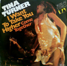 """7"""" 1976 ! TINA TURNER : I Want To Take You Higher + CV BEATLES Come Together"""