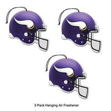 New Team ProMark NFL Minnesota Vikings Long Lasting Scent Air Freshener 3 Pack