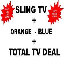SlingTV Orange + Blue  TOTAL TV DEAL +7 EXTRA  😲 LIFETIME 😲 Instant  dELIVERY