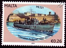 HMS ML121 Fairmile B Motor Launch Warship WWII Malta Convoys Stamp