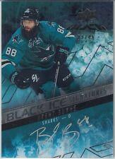 2015-16 UD Black Black Ice Signatures Auto Brent Burns 02/49