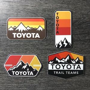 Vintage themed Toyota Mountains Sticker Pack Tacoma Tundra 4x4 4WD SR5 4Runner