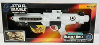 Star Wars Power of The Force Electronic Blaster Rifle BlasTech E-11 White TY