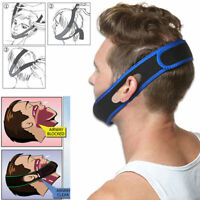 Stop Snoring Chin Strap Anti Apnea Snore Support Belt Sleep Jaw Solutions