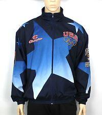 VTG 1996 ATLANTA OLYMPICS BLUE JACKET WINDBREAKER RARE USA SIZE XXL