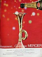 PUBLICITÉ DE PRESSE 1966 JOYEUSEMENT CHAMPAGNE MERCIER BRUT