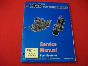 """1998 OMC STERN DRIVES-FUEL SYSTEMS """"BY"""" SERIES SERVICE MANUAL #501201 EXC"""