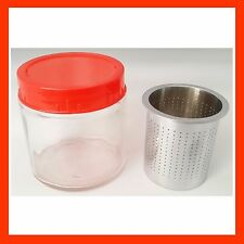 Diamond Washing Cup Gemstone Cleaning Glass Jar with Sieve Alcohol Cleaner