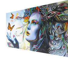 170cm x100cm CANVAS PRINT URBAN PRINCESS butterfly  ART painting