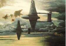 de Havilland DH.100 Vampire RAF Jet Fighter Aircraft blank  Greeting Card
