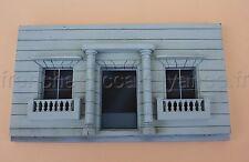 AE' Façade maison style coloniale 1/43 diorama Heco voiture delage bugatti train