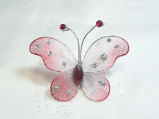 10 x Gauze Butterfly Embellishments BNGB13 Flame