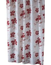 fabric summer red flower fabric Shower Curtain