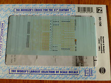 Microscale Decal N  #60-106 Norfolk & Western Steam Locomotives (1919-1961) Dulu