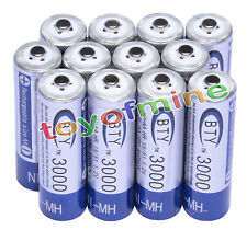 12x AA 3000mAh 1,2 V batterie Ni-MH rechargeable BTY cellule pour MP3 Jouets RC