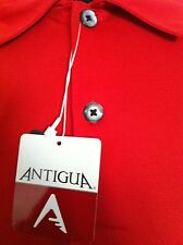NEW ANTIGUA Golf  Polo Shirt Mens XL EXTRA LARGE Red Solid Polyester NWT