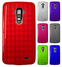 For LG G Flex TPU CANDY Hard Gel Flexi Skin Case Phone Cover Accessory Plaid