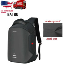 BAIBU New men 15.6 Laptop Backpack Anti Theft & Usb Charging Waterproof Travel